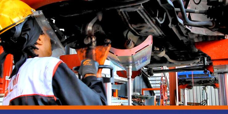 BSC Braccio supporto catalizzatori durante la fase di taglio